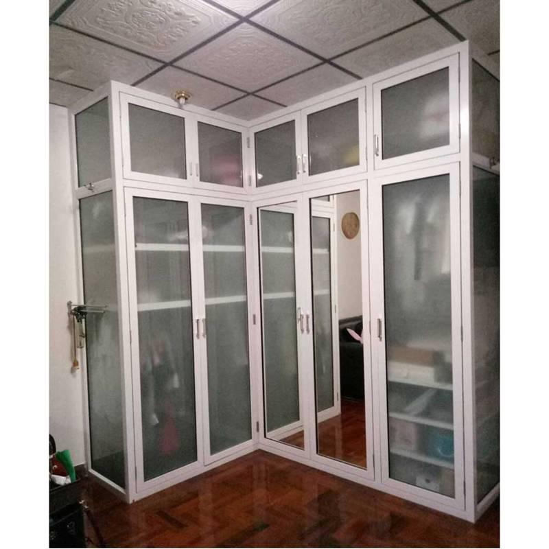 ตู้เสื้อผ้า กระจก-อลูมิเนียม